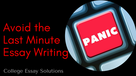 Avoid the Last Minute Essay Writing Panic