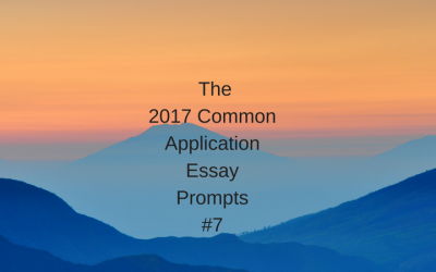 The 2017 Common Application Essay Prompts – #7
